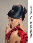 portrait of beautiful girl with ... | Shutterstock . vector #97753781