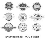 set of vintage label collection ... | Shutterstock . vector #97754585