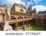 Roman Baths  Bath  Somerset  Uk