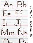 alphabet handwriting practice... | Shutterstock . vector #9775777