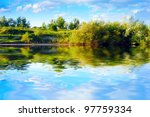 summer lake | Shutterstock . vector #97759334