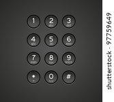 vector phone keypad background | Shutterstock .eps vector #97759649
