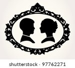 couple silhouette | Shutterstock .eps vector #97762271