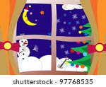 christmas or new year's eve... | Shutterstock . vector #97768535