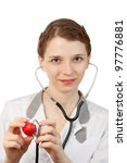 woman doctor with stethoscope