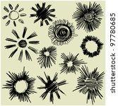 art sketched set of vector sun... | Shutterstock .eps vector #97780685