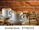 two cups of coffee | Shutterstock . vector #97782191