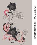 illustration of a floral... | Shutterstock .eps vector #9778372