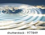 conceptual idea ripple effect... | Shutterstock . vector #977849