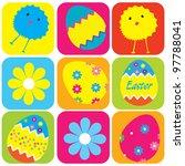 vector pattern easter eggs | Shutterstock .eps vector #97788041