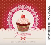 vintage card with cupcake 013 | Shutterstock .eps vector #97790327