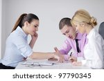 business people  team  at a... | Shutterstock . vector #97790345