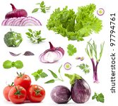 collection of vegetables with a ... | Shutterstock . vector #97794761
