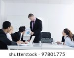 business people  team  at a...   Shutterstock . vector #97801775