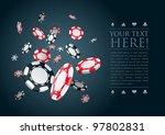 poker gambling chips poster... | Shutterstock .eps vector #97802831