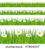 green grass and daisies strips. ... | Shutterstock .eps vector #97804247