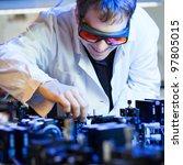 Постер, плакат: scientist doing research in
