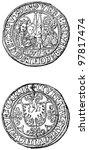 aachen penny  1492   an... | Shutterstock . vector #97817474