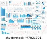 infographic great collection | Shutterstock . vector #97821101