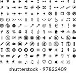 composition from gray icons.... | Shutterstock .eps vector #97822409