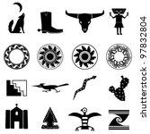 desert southwest icons | Shutterstock .eps vector #97832804