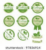 eco labels with retro vintage... | Shutterstock .eps vector #97836914