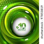 Vector Abstract Green Swirl...