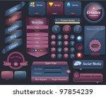 web elements vector design set | Shutterstock .eps vector #97854239