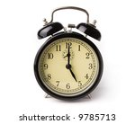 old style clock isolated on... | Shutterstock . vector #9785713