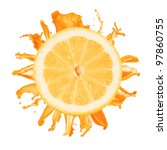 sliced lemon splash with orange ... | Shutterstock . vector #97860755