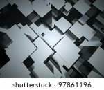 3d abstract architectural... | Shutterstock . vector #97861196