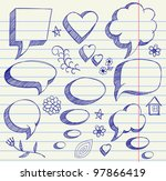 the hand drawing illustration... | Shutterstock .eps vector #97866419