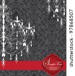 romantic invitation card design ...   Shutterstock .eps vector #97868507