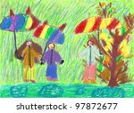 pastel drawing in a children's...   Shutterstock . vector #97872677