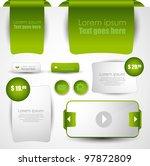web designing elements | Shutterstock .eps vector #97872809