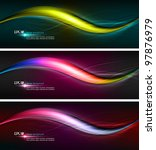 intensive colors   wavy banner... | Shutterstock .eps vector #97876979