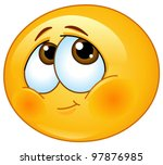 shy emoticon | Shutterstock .eps vector #97876985