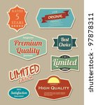 Retro Design Label Set