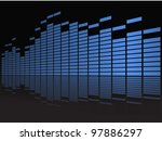 graphic equalizer in perspective | Shutterstock .eps vector #97886297