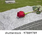 A Single Rose Placed On A Grave