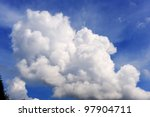 blue sky with clouds | Shutterstock . vector #97904711