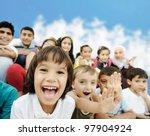 crowd of children  different... | Shutterstock . vector #97904924