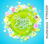easter card with calligraphic... | Shutterstock .eps vector #97905209