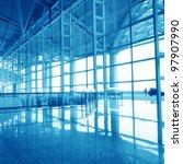 modern international airport in ... | Shutterstock . vector #97907990
