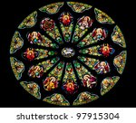 Rose Stained Glass Window Sain...