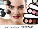 beauty portrait of young... | Shutterstock . vector #97927481