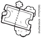 movie ticket cartoon | Shutterstock . vector #97929281
