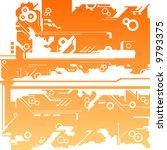 abstract machine maze... | Shutterstock . vector #9793375