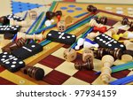 Various Board Games And Many...
