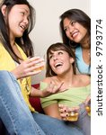 asian female made a joke and... | Shutterstock . vector #9793774